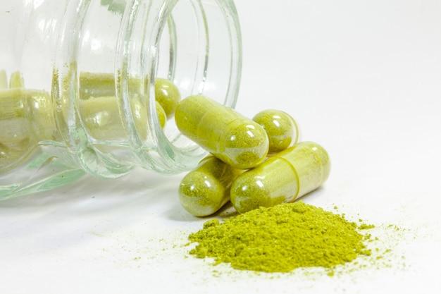 Medyczna ziołowa kapsułka