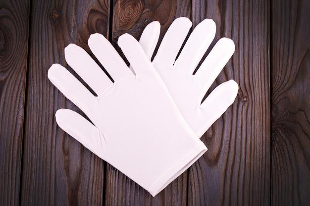 Medyczne kosmetyczne bawełniane białe rękawiczki