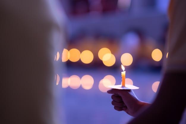Medytacja ducha świecy