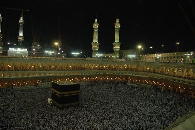 Mekka hadżdż people group osoby tłoczą spotkanie