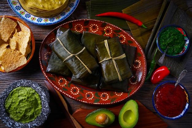 Meksykańska receptura tamale z liśćmi bananowca