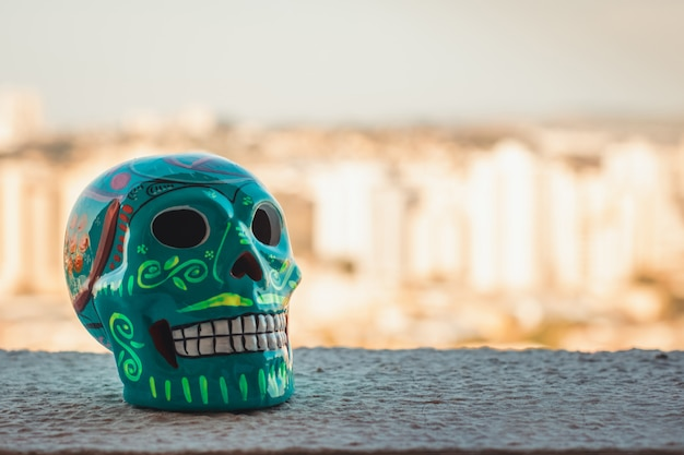 Meksykańska tradycja - dekoracyjna czaszka