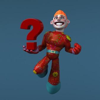 Meksykański bohater - postać 3d