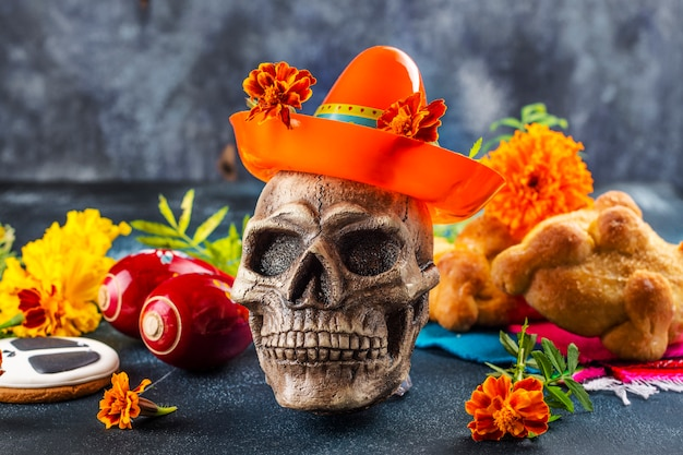 Meksykański dzień zmarłych dekoracji