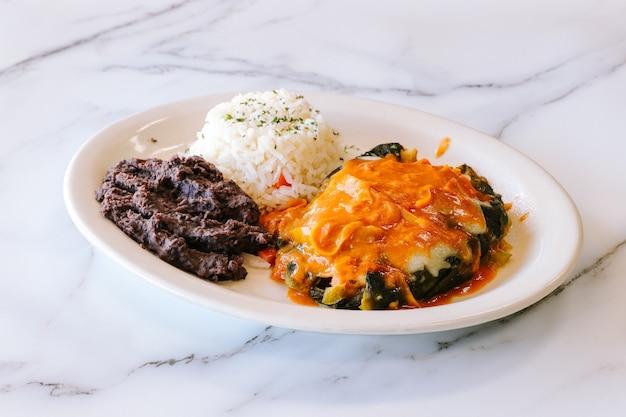 Meksykański stek i ryż