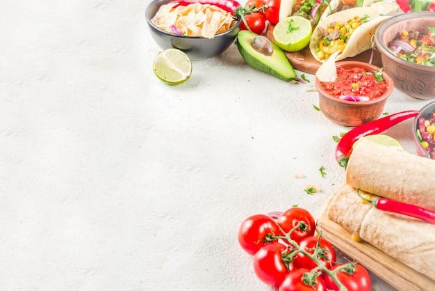 Meksykańskie jedzenie . jedzenie cinco de mayo.