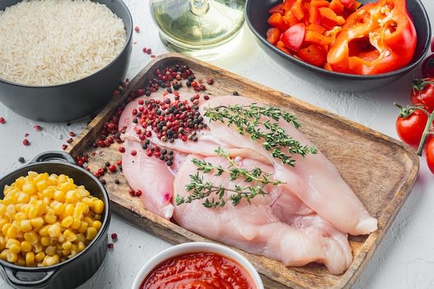 Meksykańskie jedzenie. kuchnia ameryki południowej. tradycyjny składnik