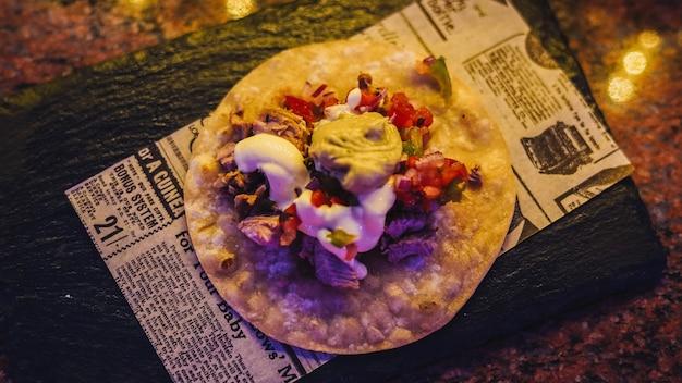 Meksykańskie tacos wołowe z warzywami
