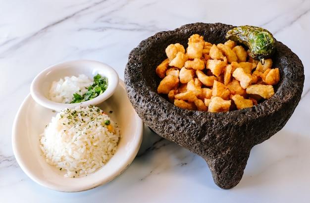 Meksykańskie ziemniaki i ryż