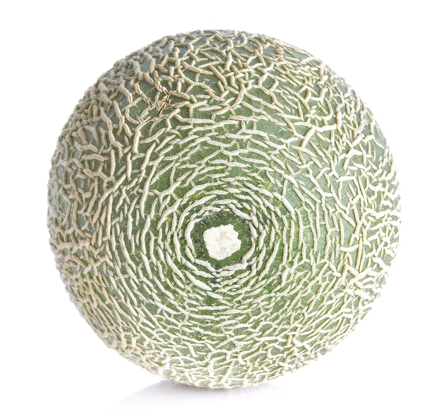 Melon na białej powierzchni