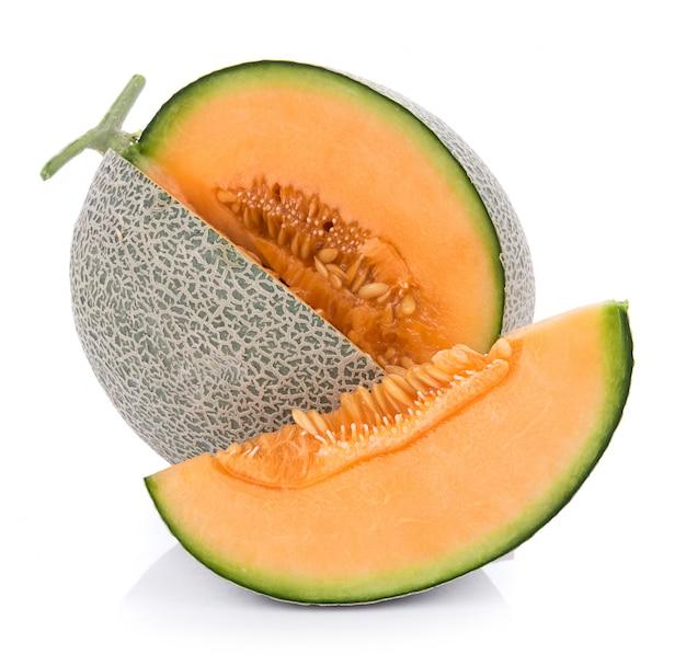 Melon na białej ścianie
