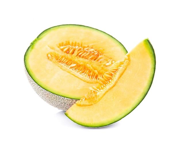 Melon na białym tle na białej powierzchni