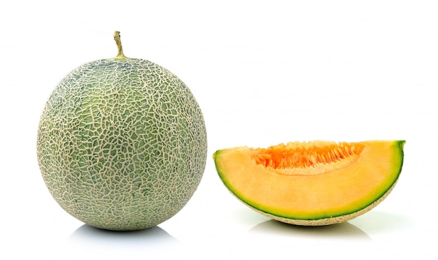 Melon odizolowywający na biel przestrzeni