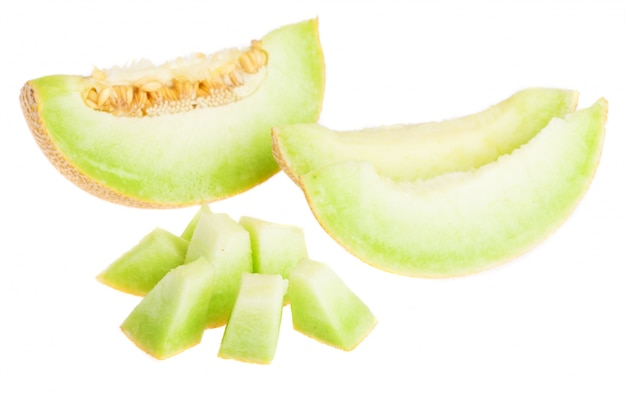 Melon plasterkach i pokrojone w kostkę