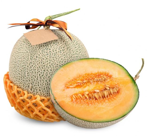 Melon z ribbin etykietki ścinku odosobnioną ścieżką