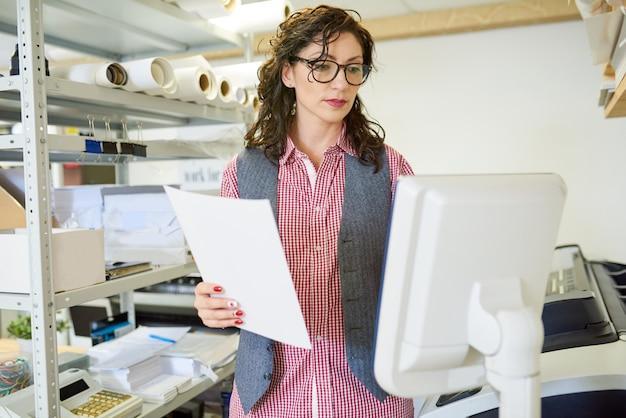 Menedżer operacyjny drukowanie naciśnij