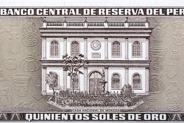 Mennica narodowa ze starych peruwiańskich pieniędzy