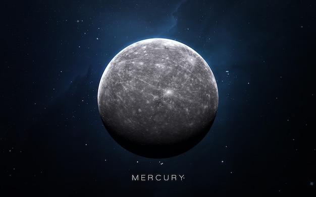 Merkury w przestrzeni, ilustracja 3d. .