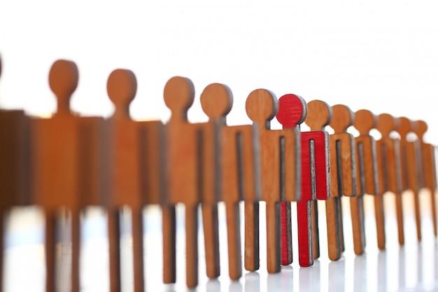 Męska czerwona klingeryt zabawki biznesmena sylwetka
