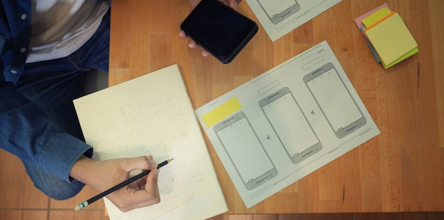 Męski interfejs graficzny projektant interfejsu użytkownika