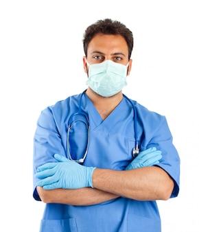 Męski pielęgniarka portret