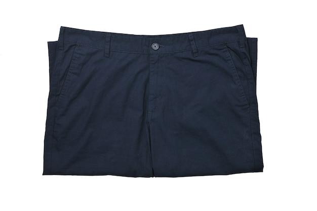 Męskie letnie spodnie na na białym tle