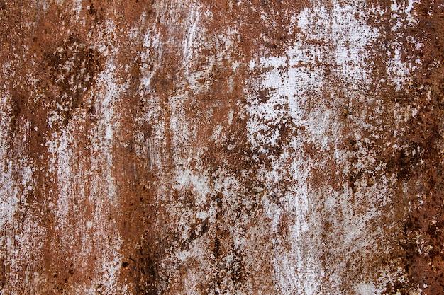 Metal skorodowane tekstura tło. zardzewiały wyblakły lakierowany arkusz