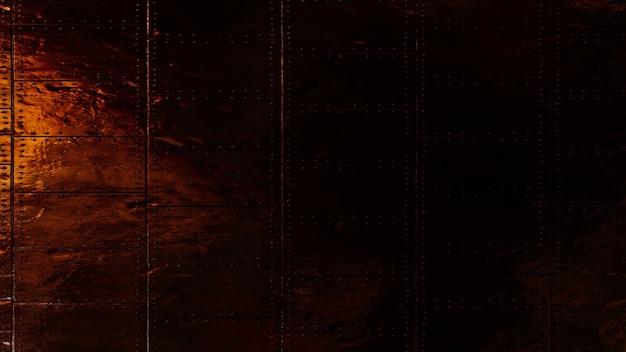 Metaliczne tło tekstury deski z efektem świetlnym