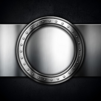 Metaliczne z okrągłą ramką