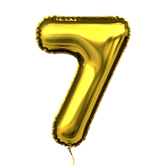 Metaliczny złoty balon litera numer cyfra numer