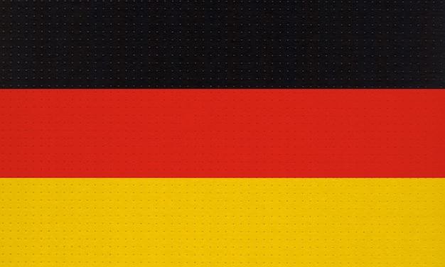 Metalowa niemiecka flaga narodowa niemiec, europy