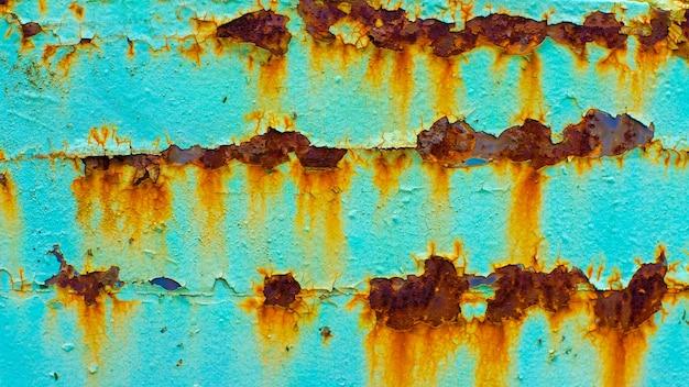 Metalowa powierzchnia z teksturą rdzy. tło dla projektanta
