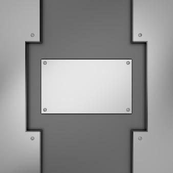 Metalowa powierzchnia ze śrubami