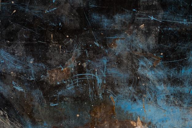 Metalowa rdza tło, rozpad stali, metalowa tekstura z zarysowaniem i pęknięciem