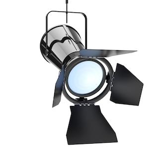 Metalowe nowoczesne reflektory zawieś z sufitu na białym tle. renderowanie 3d