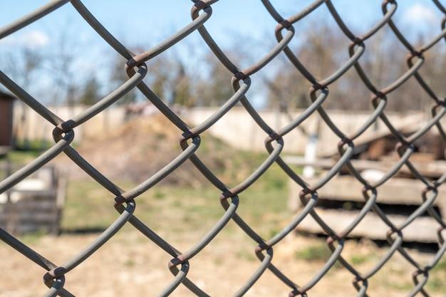 Metalowe ogrodzenie ochronne