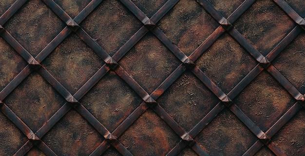 Metalowe tło. metalowe bramy ozdobione.