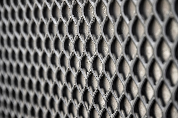 Metalowe tło ogrodzenia w odcieniach szarości