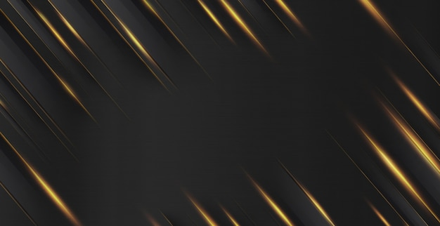 Metalowe złoto światło ciemnego abstrakcyjnego tła