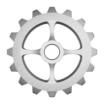 Metalowy bieg na białym tle. izolowane ilustracji 3d