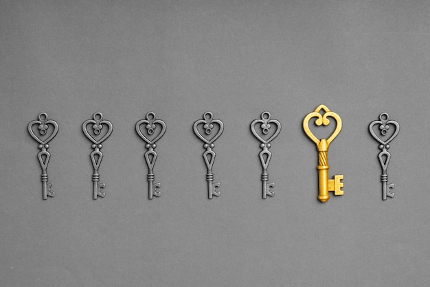 Metalowy klucz do koncepcji udanego biznesu online