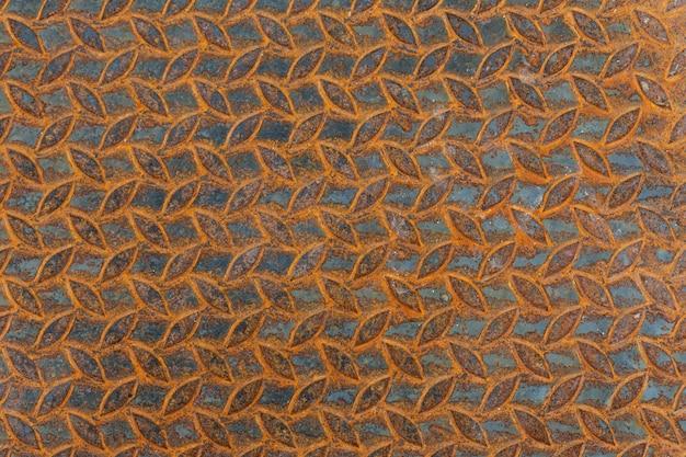 Metalu tło z zrudziałą teksturą.
