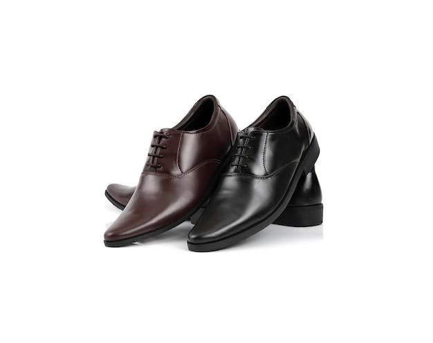 Mężczyzna mody biura buty odizolowywający