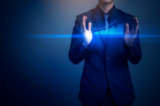 Mężczyzna rysunek graficzny hologram