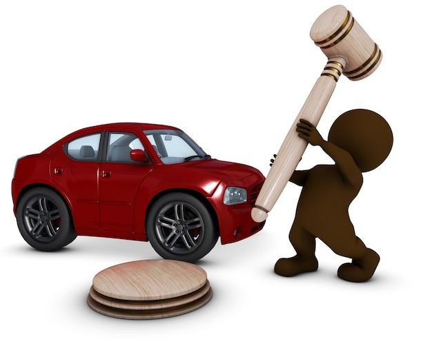 Mężczyzna sprzedaży samochodu