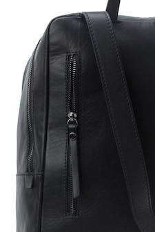 Mężczyzna torebki plecak odizolowywający na białym tle