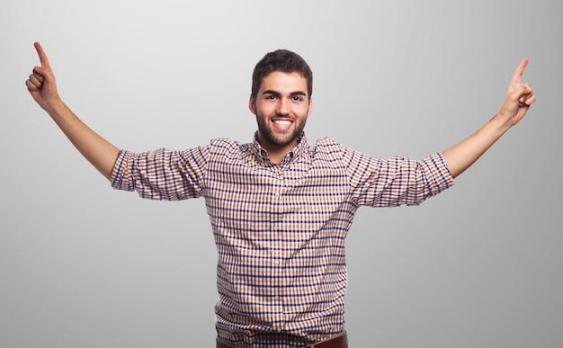 Mężczyzna uśmiecha treść moda portret