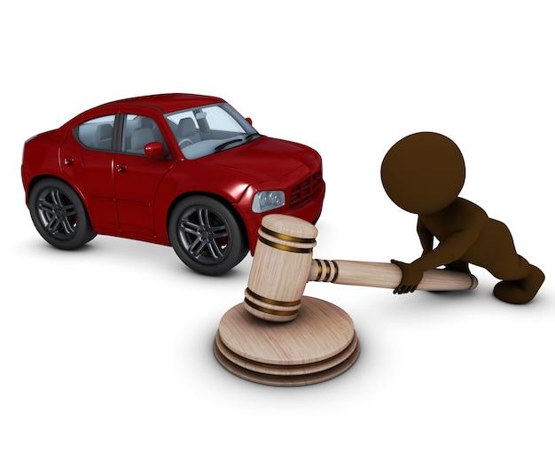 Mężczyzna w aukcji samochodu