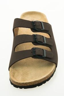 Mężczyźni sandały skórzane i buty z klapką