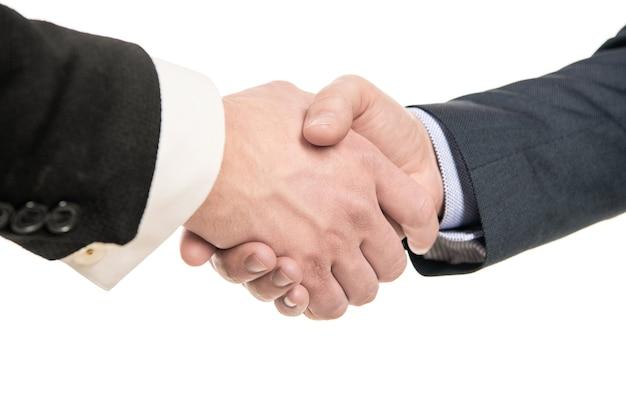 Mężczyźni uścisk dłoni po udanej transakcji biznesowej, uścisk dłoni.